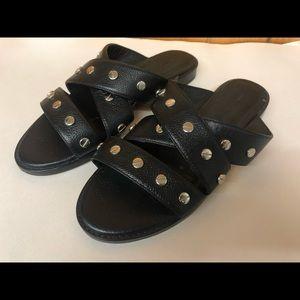 SALE! Rebecca Minkoff Susie black leather sandals